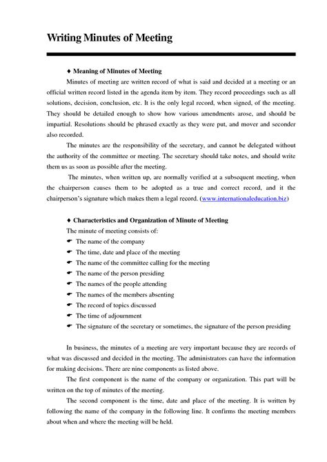 writing up minutes template best photos of meeting minutes sle of writing writing