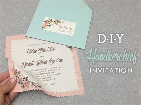 diy wedding invites free diy vintage hanky wedding invitation with free template