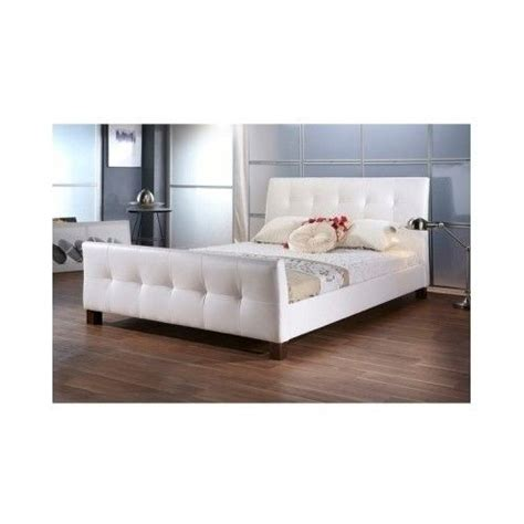 Tufted Bed Frames Size Platform Bed Frame Upholstered Headboard White Tufted Modern Beds New Ebay