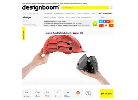 designboom linkedin el casco plegable de overade ulule