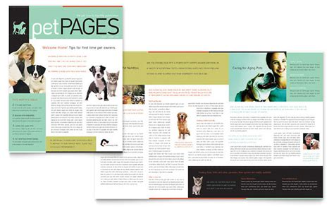 newsletter layout pdf veterinary clinic newsletter template design