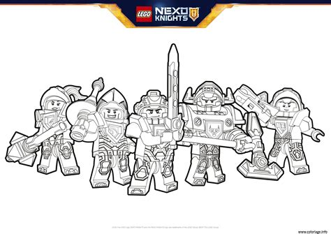 nexo knights coloring pages aaron coloriage lego nexo knights formation dessin