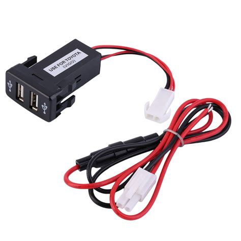 high quality brand new free shipping 12 24v dual usb ports