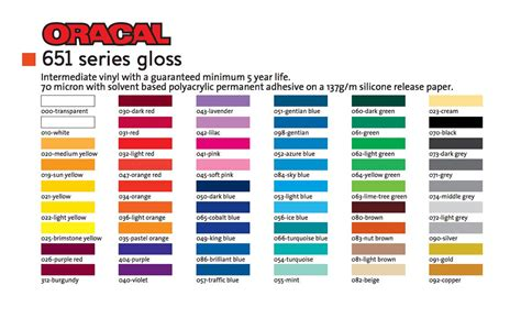 Sticker Oracal 651 Gloss Matte oracal 651 series gloss oracal vinyl the vinyl corporation