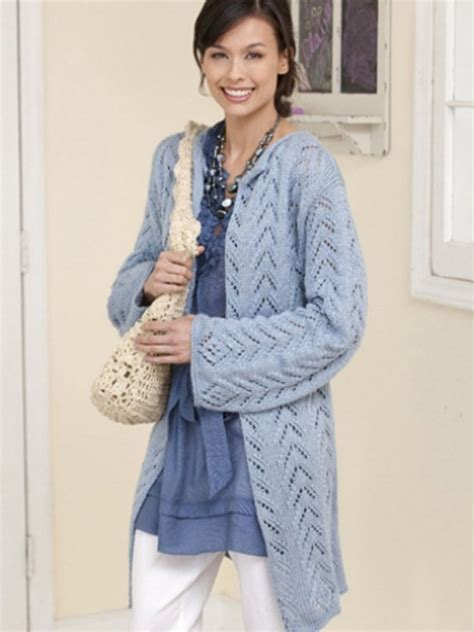 knitting jacket lacy knit jacket in caron simply soft