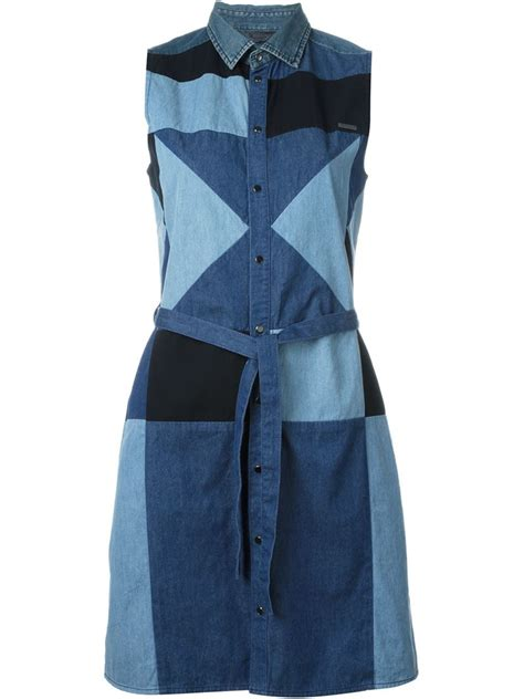 denim patchwork dress www imgkid the image kid has it