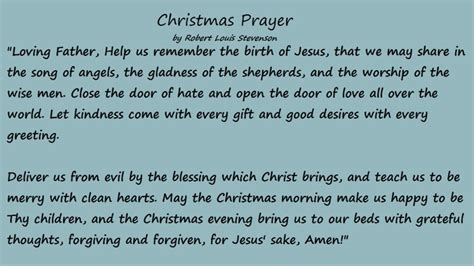 christmas prayer  robert louis stevenson  holy night pinterest robert louis stevenson