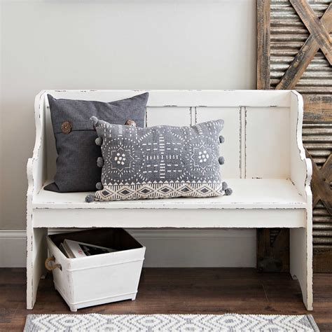 pew style benches distressed ivory pew bench kirklands