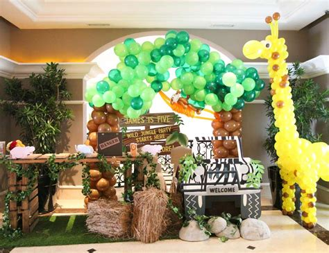 animal themed events animal jungle birthday quot the explorer james 5th jungle