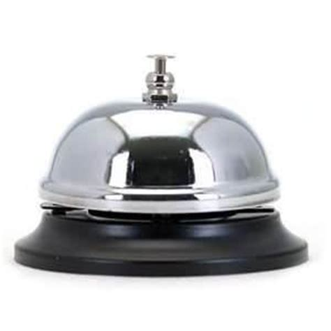 Metal Reception Bell Desk Counter Ringer Traditional Style Reception Desk Bell