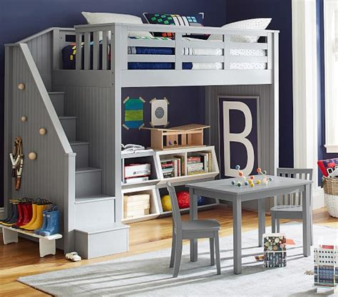 Catalina Stair Loft Bed Pottery Barn Kids Bunk Bed Systems