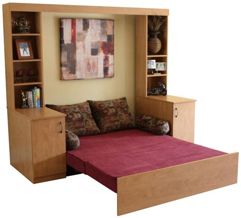 tiny house furniture slide away bed