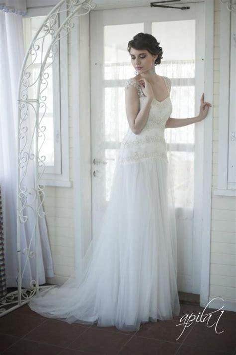 Brautkleid Aus T Ll by Wundersch 246 Ne Hochzeitskleider T 252 Ll A Linie Romantische