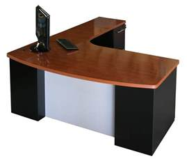 Simple Living L Shaped Computer Desk Corner Computer Desk With Brown Varnished Wooden Top
