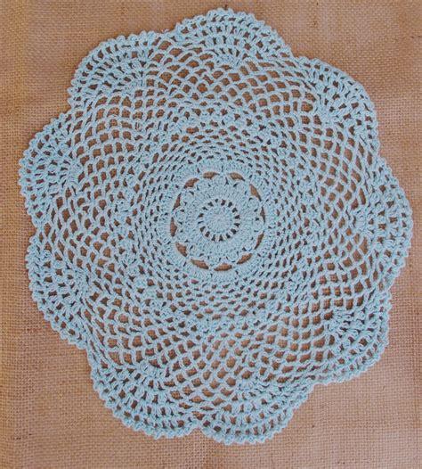 Handmade Doilies - 12 quot shaped handmade cotton crochet doilies artic