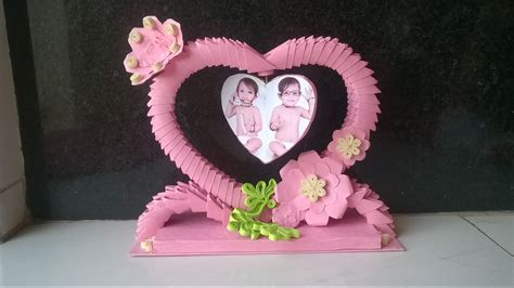 How To Make Showpiece With Paper - 3d origami showpiece how to make photo frame using