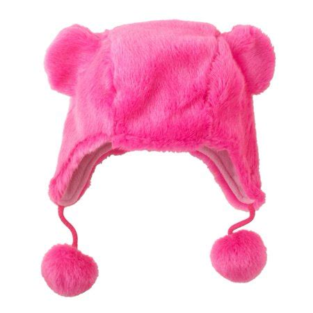 Cp Pink cp neon pink fur trapper hat critter style beanie