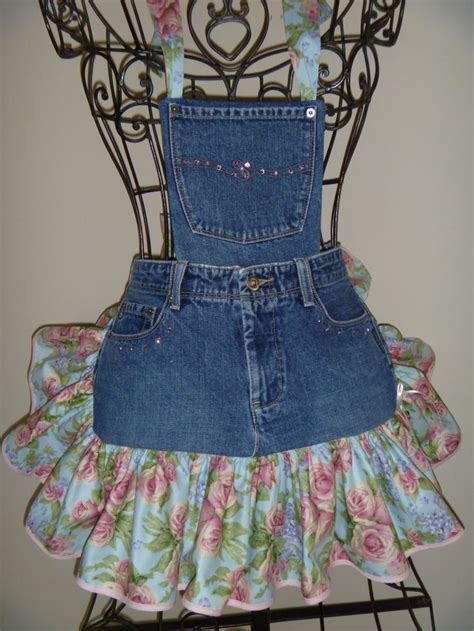 pattern for blue jean apron the much needed little springtime apron www