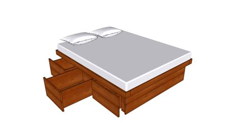 How To Make Drawers Bed free woodworking plans bed with drawers plans diy how to