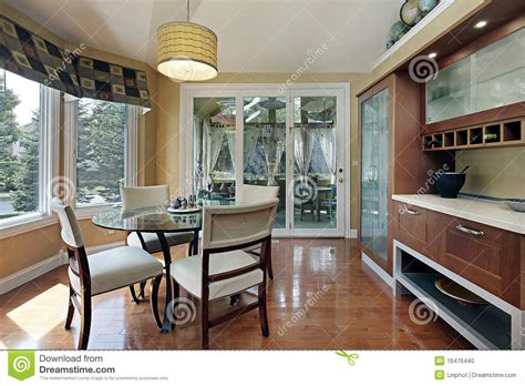 eating area eating area with wood cabinetry stock photo image 16476440