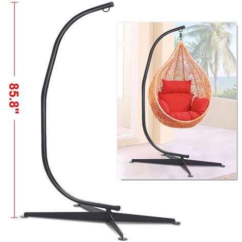c frame swing stand black solid steel c frame chair hammock stand construction