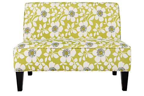 floral settee dover peapod green floral settee