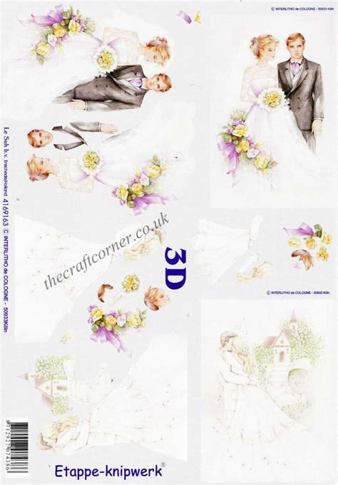 Wedding Decoupage Sheets - wedding church 3d decoupage sheet from le suh