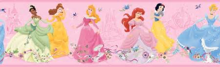 Home Decor Upholstery Fabric by York Wallpaper Pink Dancing Disney Princess Wall Border
