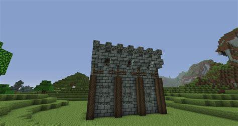 minecraft walls tutorial minecraft medieval wall design doovi