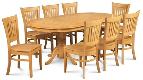 9 pc dining room set 9 pc oval dining room set in oak finish express home decor