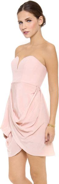 zimmermann strapless drape dress zimmermann strapless drape maxi dress rosewater in pink