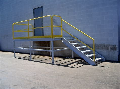 Platform Stairs Design Steel Metal Stair Railing Ladder And Platform Fabrication Steel Fabricators