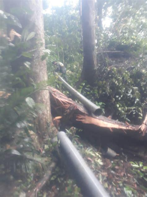 Pipa Tanah pipa pecah pasokan air baku pdam terganggu pemkab natuna