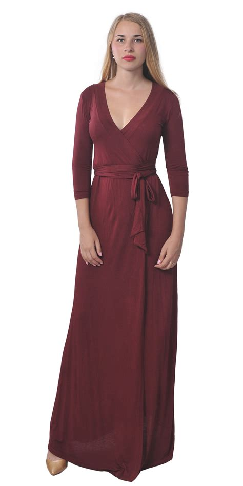 Maxi Wrap Dress sleeve maxi wrap dress length waist tie