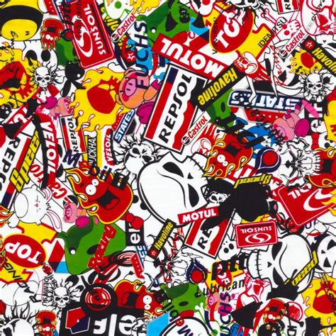 Auto Sticker Bomb by Sticker Bomb 2 Racing S184 Pattern Dipdemon 174