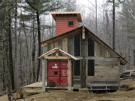 shipping container cabin catching up with building tuff enough vermont