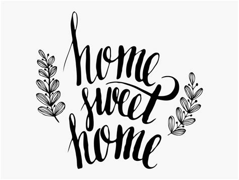 home sweet home decoratie clipart png