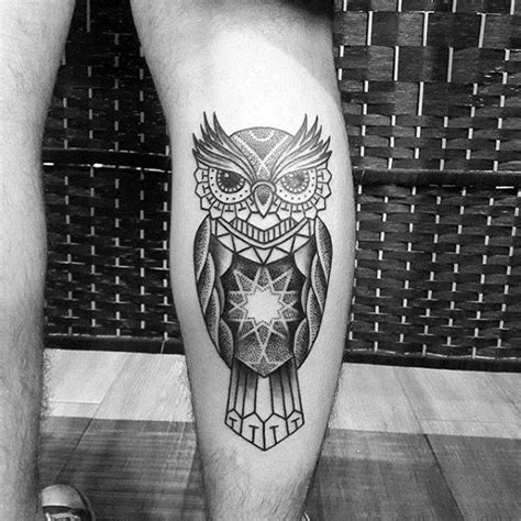 star shaped tattoos designs collection of 25 geometric owl tattoos on leg