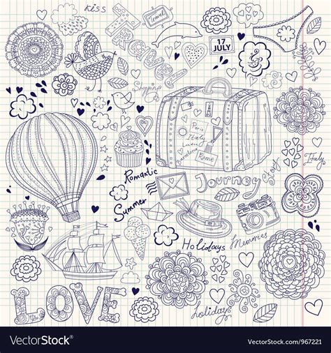 alfred doodle vector free decorative doodle background royalty free vector image