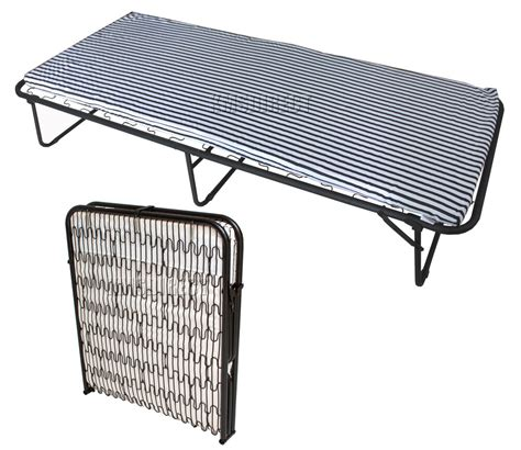 futon folding bed foxhunter metal single folding guest visitor compact bed