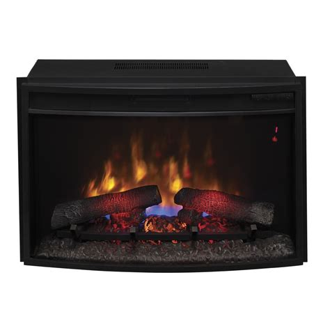 electric fireplace logs lowes shop classicflame 27 in black electric fireplace insert at