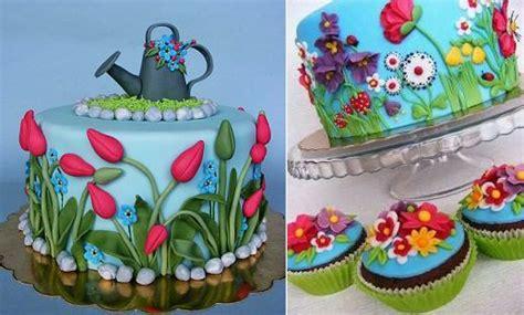 Flower Garden Cake Cakes Pinterest Gardening Cakes Cake Magazine