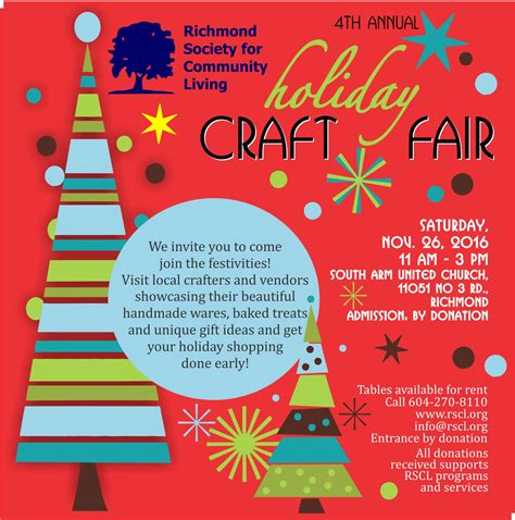 rscl 4th annual holiday craft fair richmond society for