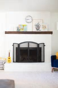 how to paint a brick fireplace white 187 lovely indeed