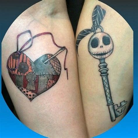 jack and sally couples tattoos and sally lock and key my is a canvas