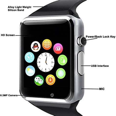 Smartwatch A1 U10 Support Simcard And Slot Memory apple iphone 6 plus compatible a1 bluetooth smartwatch with sim tf card support with apps like