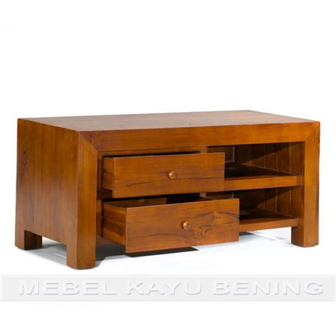 Rak Tv Kayu Akasia rak tv kayu jati model minimalis leuser