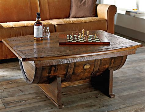 wine barrel coffee table glass top upcycled wood cask coffee tables whiskey barrel coffee table