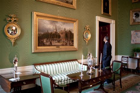 and malia rooms in the white house free domain image president barack obama standing in the green room of the white house