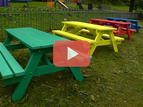 recycled plastic benches for schools derwent recycled plastic junior picnic table bench education